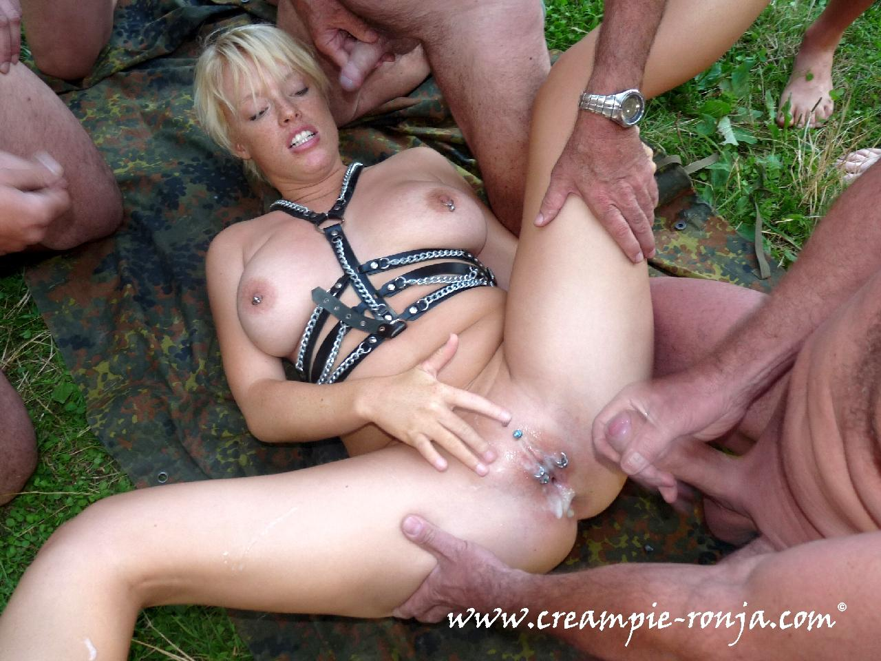 Anal creampie party